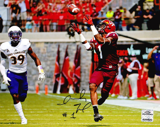 Virginia Tech VT Hokies Isaiah Ford Signed Autographed 8x10 Photo 'ECU' (JSA PSA Pass) 757 COA