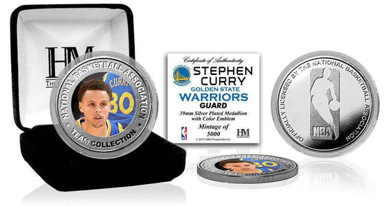 Golden State Warriors Stephen Curry Silver Color Coin (HM)