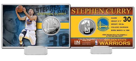 Golden State Warriors Stephen Curry Silver Coin Card (HM) - 757 Sports Collectibles