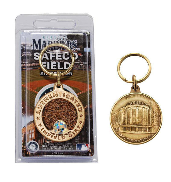 Seattle Mariners Safeco Field Bronze Infield Dirt Keychain (HM) - 757 Sports Collectibles
