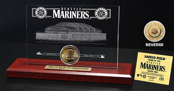 Seattle Mariners Safeco Field 24KT Gold Coin Etched Acrylic (HM)