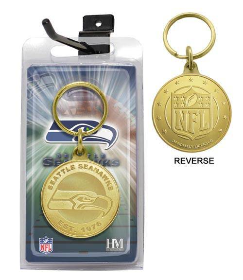 Seattle Seahawks Bronze Bullion Keychain (HM) - 757 Sports Collectibles