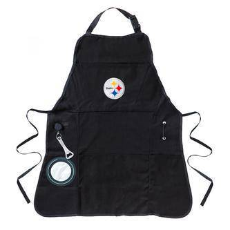 Pittsburgh Steelers Embroidered Grilling Apron with Bottle Holder and Bottle Opener - 757 Sports Collectibles