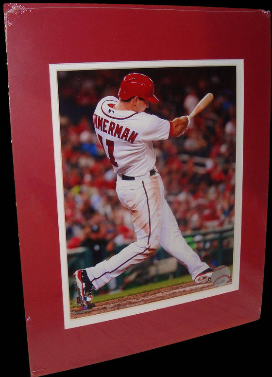 Ryan Zimmerman Washington Nationals Swing Matted 8x10 Photo Picture Poster Print