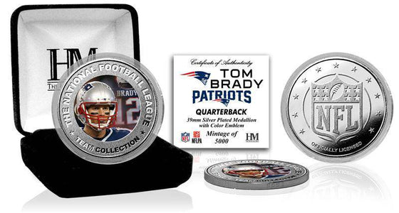 New England Patriots Tom Brady Silver Color Coin (HM)