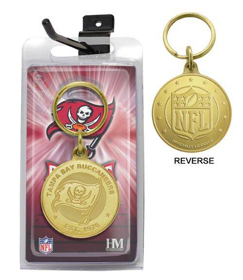 Tampa Bay Buccaneers Bronze Bullion Keychain (HM) - 757 Sports Collectibles