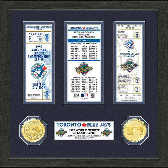 Toronto Blue Jays 1992 World Series Champions Ticket Collection (HM)