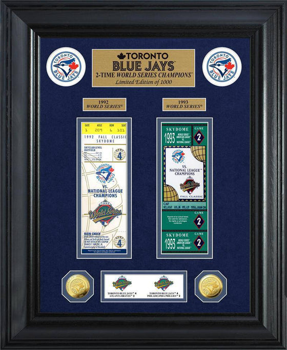 Toronto Blue Jays World Series Deluxe Gold Coin & Ticket Collection (HM) - 757 Sports Collectibles