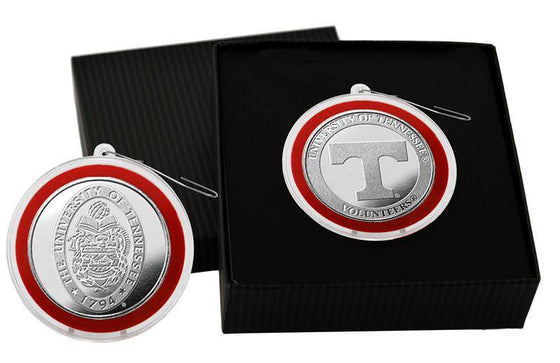 University of Tennessee Volunteers Silver Coin Ornament (HM)