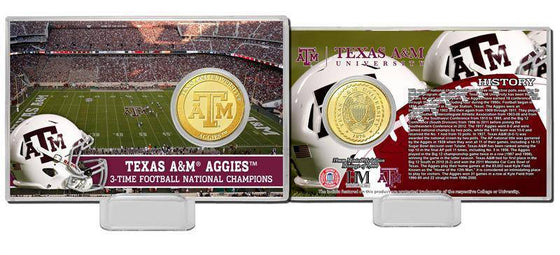 Texas A&M Aggies Texas A&M University Bronze Mint Coin Card (HM) - 757 Sports Collectibles