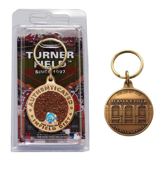 Atlanta Braves Turner Field Bronze Infield Dirt Keychain (HM) - 757 Sports Collectibles