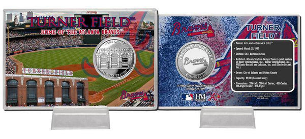 Atlanta Braves Turner Field Silver Coin Card (HM)