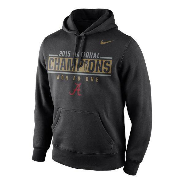 Alabama Crimson Tide Nike College Football Playoff 2015 National Champions Locker Room Pullover Hoodie - Black