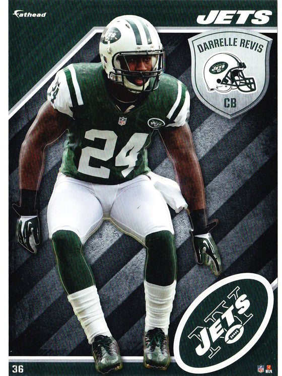 NFL New York Jets Darrelle Revis Fathead Tradeable Decal Sticker 5x7 - 757 Sports Collectibles