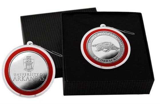 Arkansas Razorbacks University of Arkansas Silver Coin Ornament (HM)