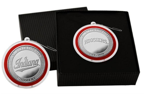 Indiana Hoosiers Indiana University Silver Coin Ornament (HM) - 757 Sports Collectibles