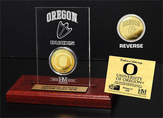 Oregon Ducks University of Oregon  24KT Gold Coin Etched Acrylic (HM)