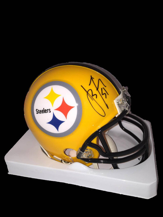 NFL James Farrior Pittsburgh Steelers Autographed Signed Throwback Yellow Mini Helmet ( JSA / PSA Pass) 757