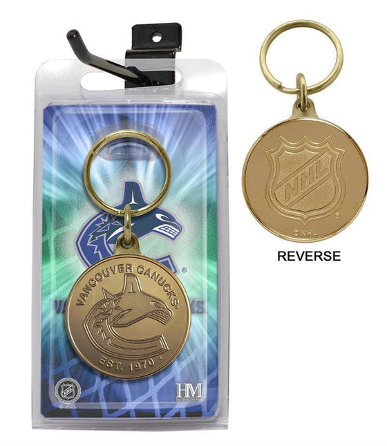 Vancouver Canucks Bronze Coin Keychain (HM)
