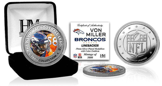Denver Broncos Von Miller Silver Color Coin (HM)