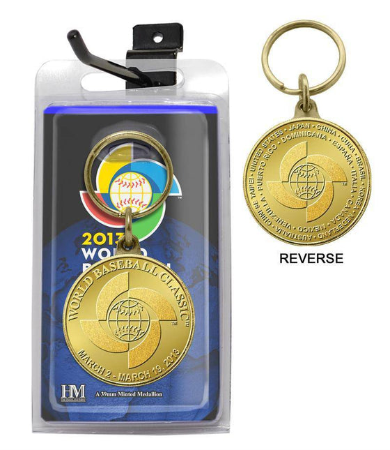 2013 World Baseball Classic Bronze Coin Keychain (HM) - 757 Sports Collectibles