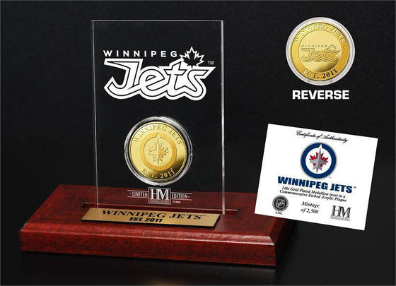 Winnipeg Jets  Etched Acrylic Desktop (HM)
