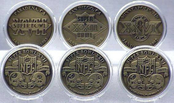 WASHINGTON REDSKINS BRONZE SUPER BOWL COLLECTION (HM) - 757 Sports Collectibles