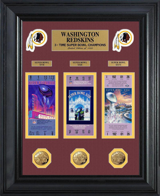 Washington Redskins Super Bowl Ticket and Game Coin Collectible Frame (HM)