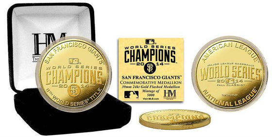 San Francisco Giants 2014 World Series Champions Gold Mint Coin (HM)