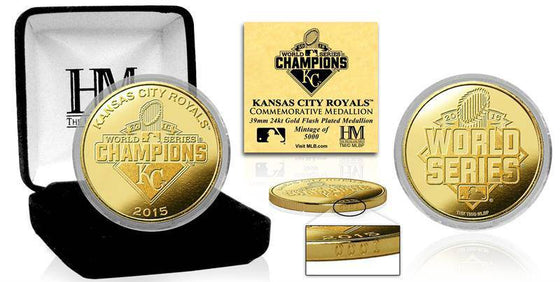 Kansas City Royals 2015 World Series Champions Gold Mint Coin (HM) - 757 Sports Collectibles