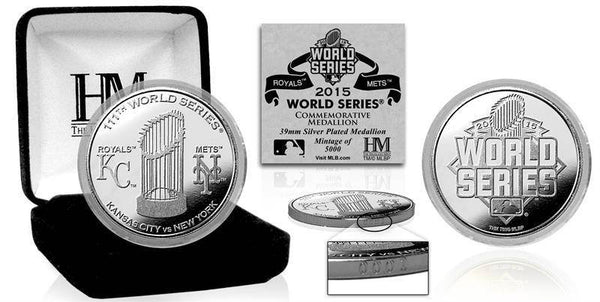 2015 World Series Dueling Silver Mint Coin (Kansas City vs Mets) (HM)