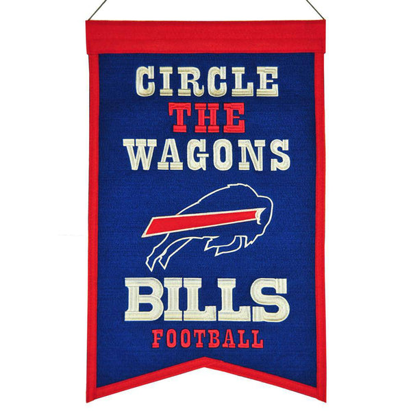 "Buffalo Bills Franchise Banner 14""x22"" Wool Embroidered"