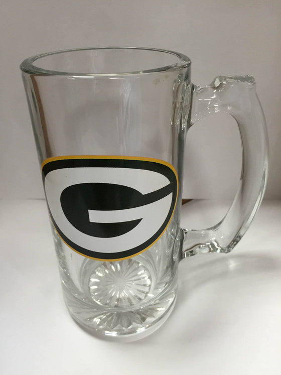 NFL Green Bay Packers 12 oz Glass Mug - 757 Sports Collectibles