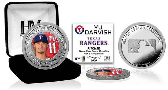 Texas Rangers Yu Darvish Silver Color Coin (HM) - 757 Sports Collectibles