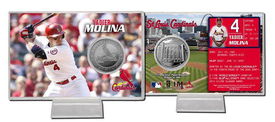 St. Louis Cardinals Yadier Molina Silver Coin Card (HM)
