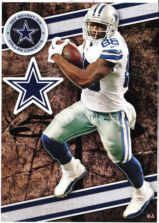 NFL Dallas Cowboys Dez Bryant Fathead Tradeable Decal Sticker 5x7 - 757 Sports Collectibles