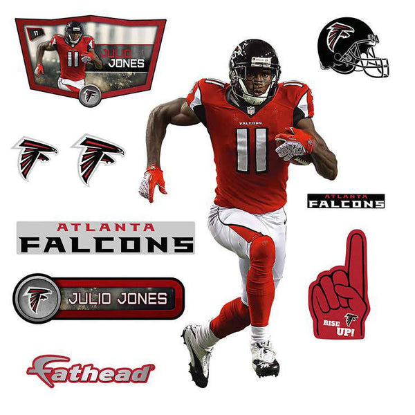 Atlanta Falcons Julio Jones - Fathead Jr JUNIOR Player/Person 27x40 Decal Sticker