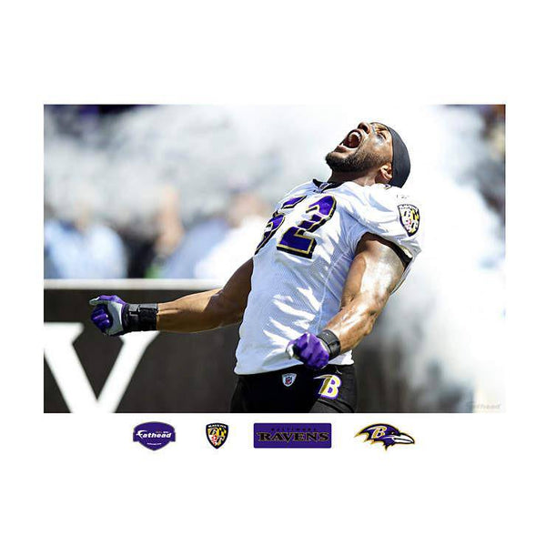 Baltimore Ravens Ray Lewis Making An Entrance -  In Your Face Mural REALBIG Mural 54x80 Decal Sticker