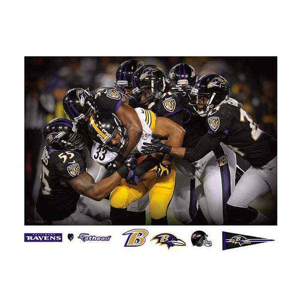 Baltimore Ravens Defense Swarm Mural REALBIG Player/Person 54x80 Decal Sticker