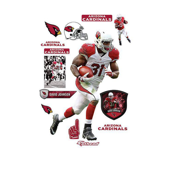 Arizona Cardinals David Johnson REALBIG Player/Person 54x80 Decal Sticker