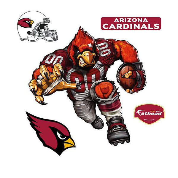 Arizona Cardinals Cardiac Cardinal REALBIG Character 54x40 Decal Sticker