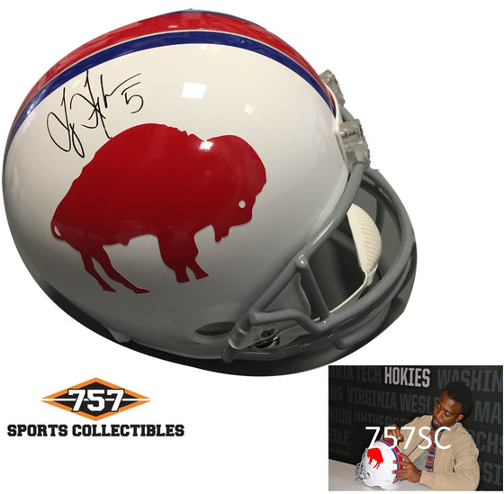NFL Tyrod Taylor Buffalo Bills Signed Auto Throwback Full Size Helmet ( JSA PSA Pass) 757
