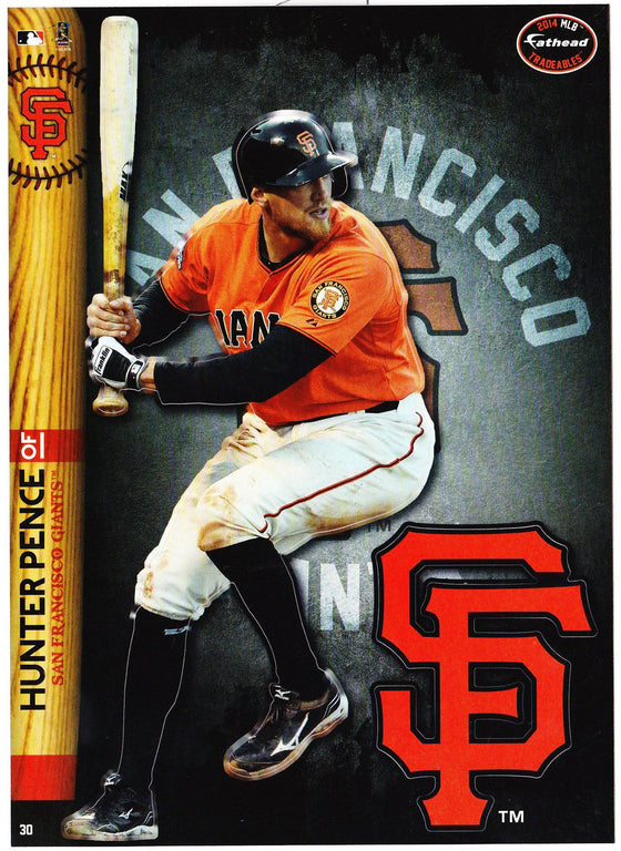 MLB San Francisco Giants Hunter Pence Fathead Tradeable Decal Sticker 5x7