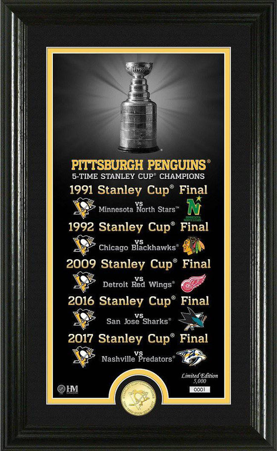 "Pittsburgh Penguins ""Legacy"" Bronze Coin Photo Mint (HM) - 757 Sports Collectibles"