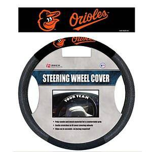 MLB Baltimore Orioles Poly-Suede Universal Steering Wheel Cover