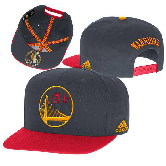NBA Golden State Warriors Chinese Nights Snapback Hat - 757 Sports Collectibles