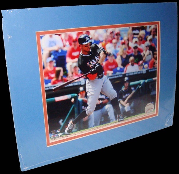 Giancarlo Stanton Miami Marlins Black Matted 8x10 Photo Picture Poster Print