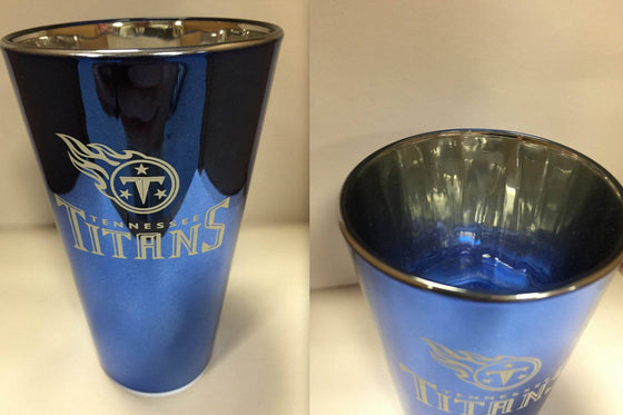 NFL Tennessee Titans Lusterware 16 oz Glass Pint