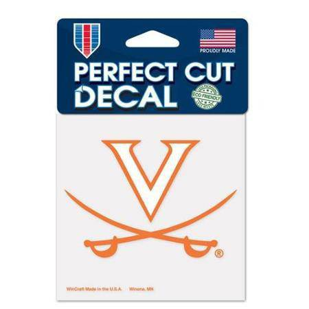 Virginia Cavaliers Perfect Cut 4x4 Diecut Decal - 757 Sports Collectibles