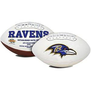 NFL Baltimore Ravens White Panel Signature Series Autograph Logo Football - 757 Sports Collectibles